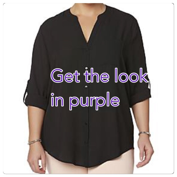 474a722af2b NWT purple crepe blouse 👚 plus size. Boutique. simply emma